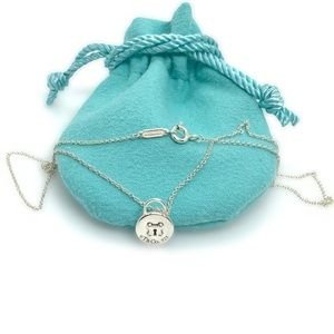 """Tiffany & Co. Small Padlock Pendant Necklace 16"""""""